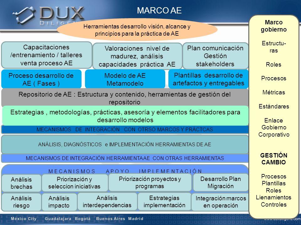 MARCO AE Herramientas desarrollo visión, alcance y principios para la práctica de AE Capacitaciones /entrenamiento / talleres venta proceso AE Valorac