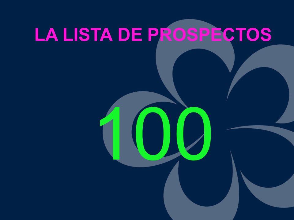 LA LISTA DE PROSPECTOS 100