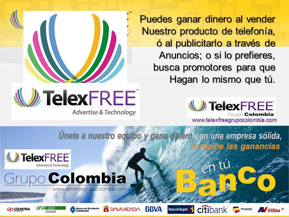 Hernán Darío Jordán Cel: 311 369 0028 www.telexfree.com/hdjordan www.telexfreegrupocolombia.com www.telexfreegrupocolombia.com