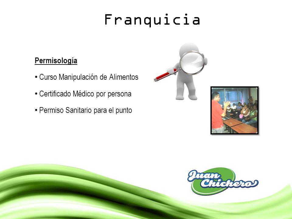 Franquicia Permisología Curso Manipulación de Alimentos Certificado Médico por persona Permiso Sanitario para el punto