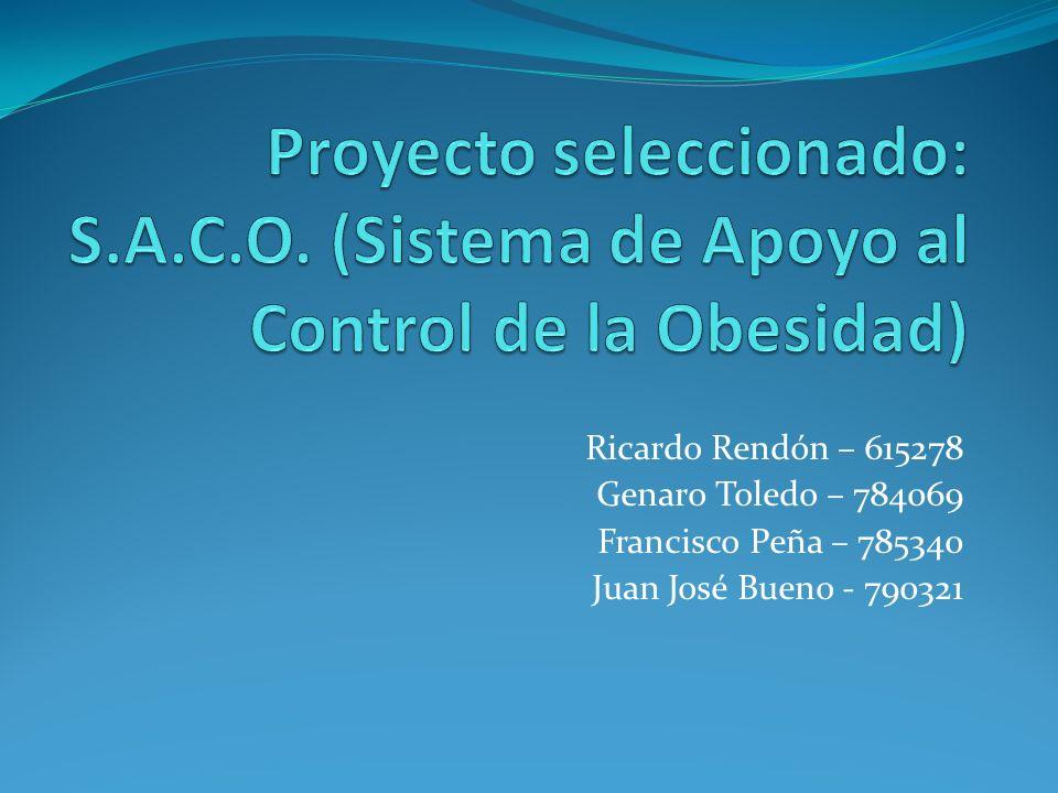 Ricardo Rendón – 615278 Genaro Toledo – 784069 Francisco Peña – 785340 Juan José Bueno - 790321