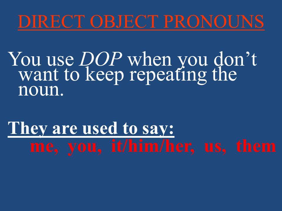 Indirect Object Pronouns Indirect Object Pronouns replace or accompany indirect object nouns.
