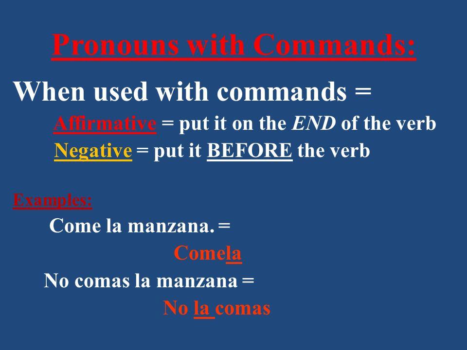 Práctica: Cut them.(las verduras) = Cortalas Dont cut them.