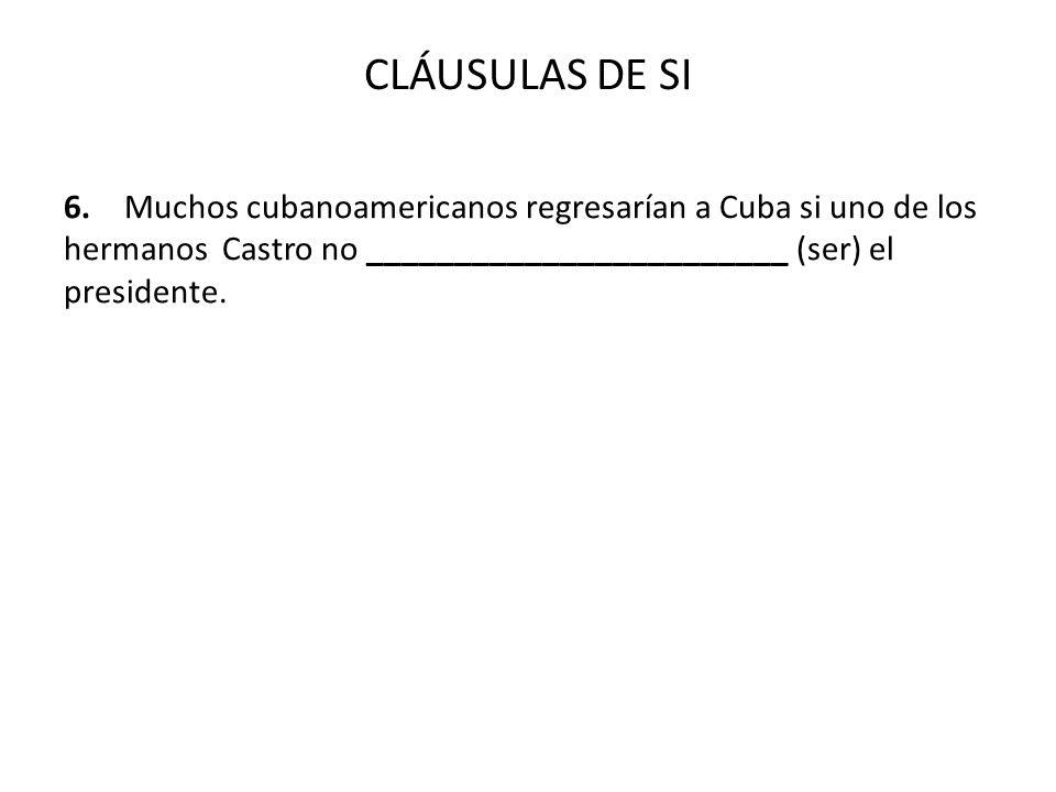 CLÁUSULAS DE SI 6.