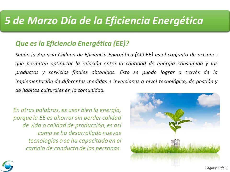 5 de Marzo Día de la Eficiencia Energética Que es la Eficiencia Energética (EE).