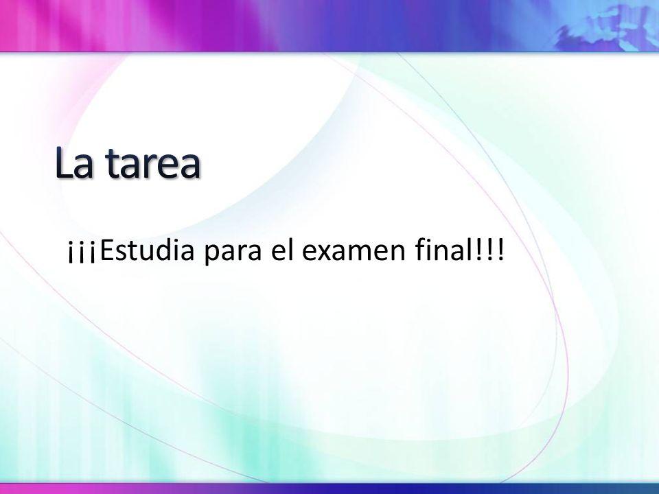 ¡¡¡Estudia para el examen final!!!