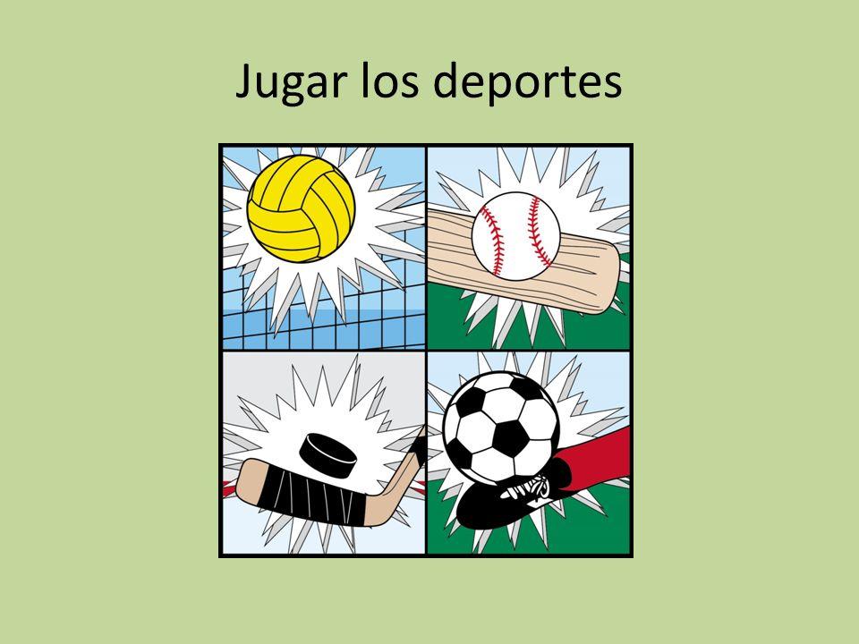 Jugar los deportes