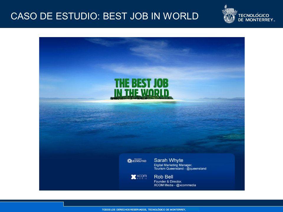 TODOS LOS DERECHOS RESERVADOS, TECNOLÓGICO DE MONTERREY, AÑO 2007 CASO DE ESTUDIO: BEST JOB IN WORLD