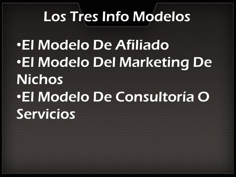 Los Tres Info Modelos El Modelo De Afiliado El Modelo Del Marketing De Nichos El Modelo De Consultoría O Servicios