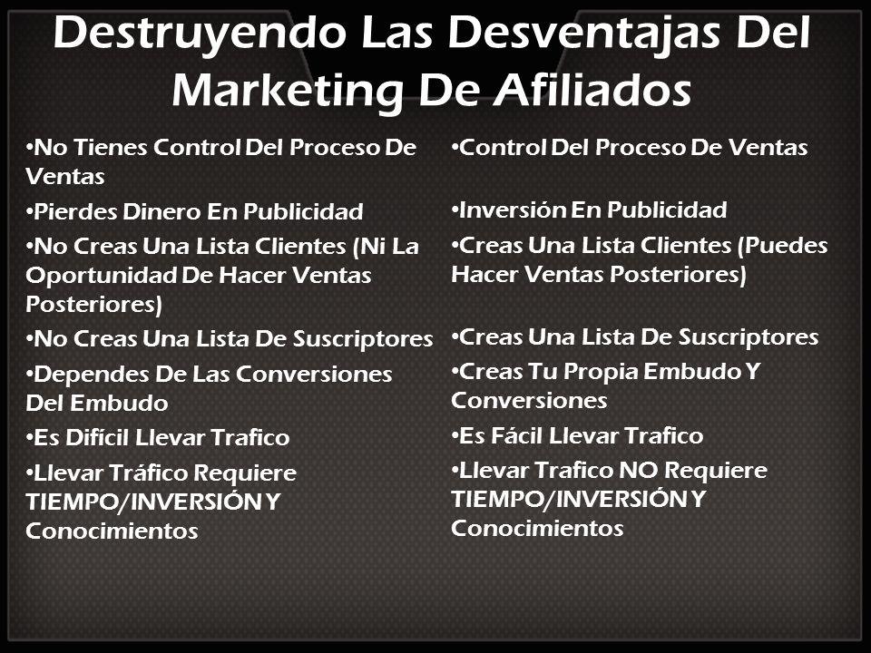 Destruyendo Las Desventajas Del Marketing De Afiliados No Tienes Control Del Proceso De Ventas Pierdes Dinero En Publicidad No Creas Una Lista Cliente