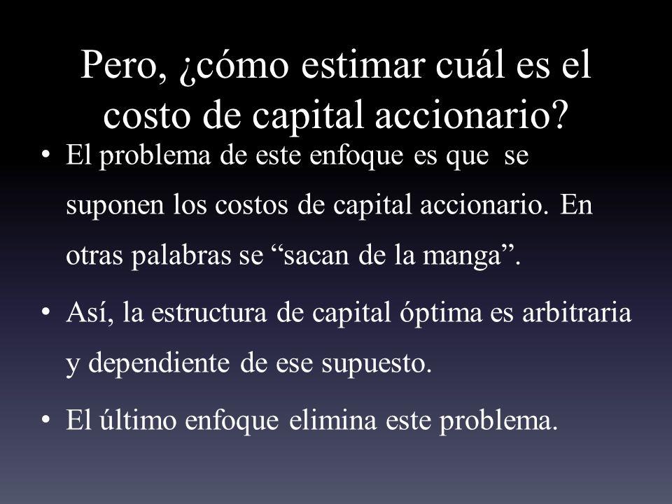 Pero, ¿cómo estimar cuál es el costo de capital accionario.