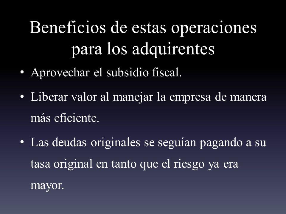 Beneficios de estas operaciones para los adquirentes Aprovechar el subsidio fiscal.