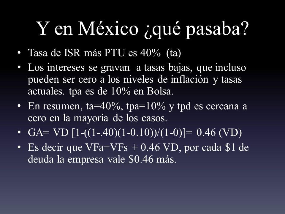 Y en México ¿qué pasaba.