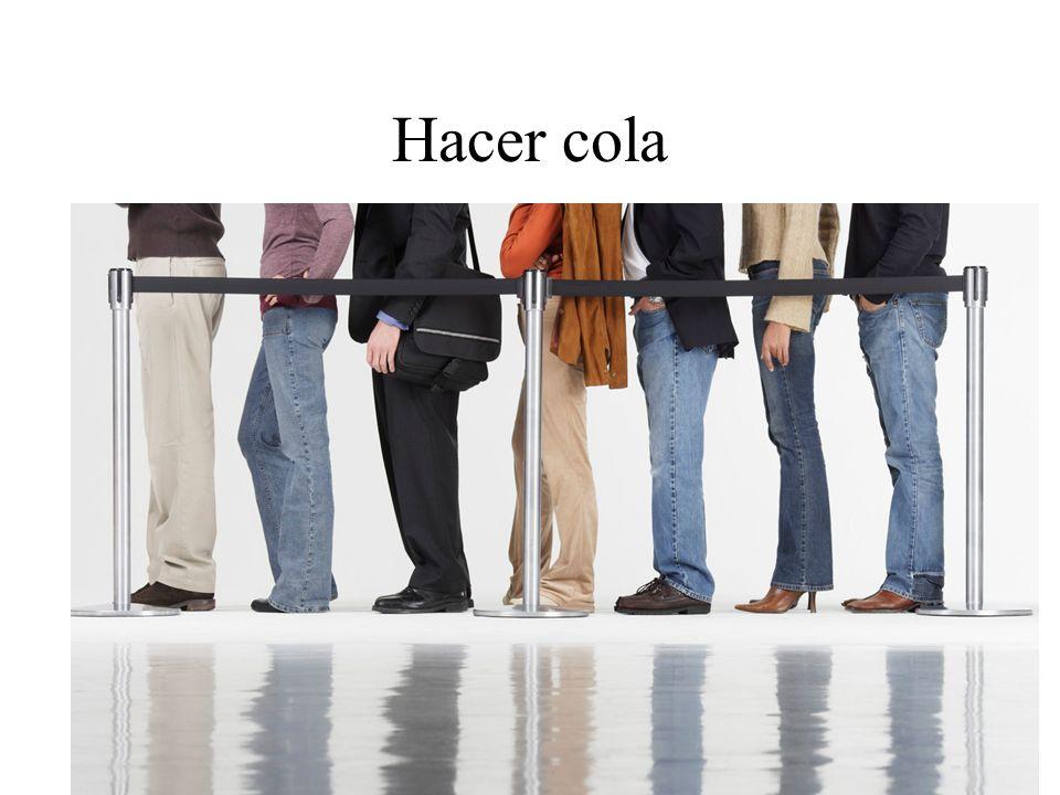 Hacer cola