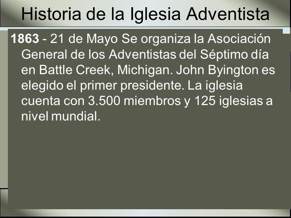 John Byington Nació el 8 de octubre de 1789 - Murió el 7 de enero de 1887 Primer presidente de la Asociación General Predicador metodista antes de llegar a ser predicador Adventista del 7º día.