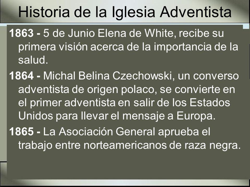 Historia de la Iglesia Adventista 1866 - 5 de Septiembre.
