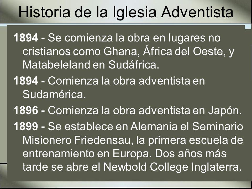 Historia de la Iglesia Adventista 1899 – La obra adventista entre los hispanos comienza en Sánchez Arizona gracias a literatura vendida por col portores.