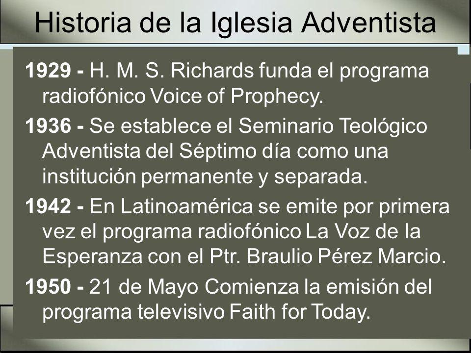 Historia de la Iglesia Adventista 1957 - Se inaugura la primera Universidad Adventista del mundo la Potomac University, en Washington, D.C.