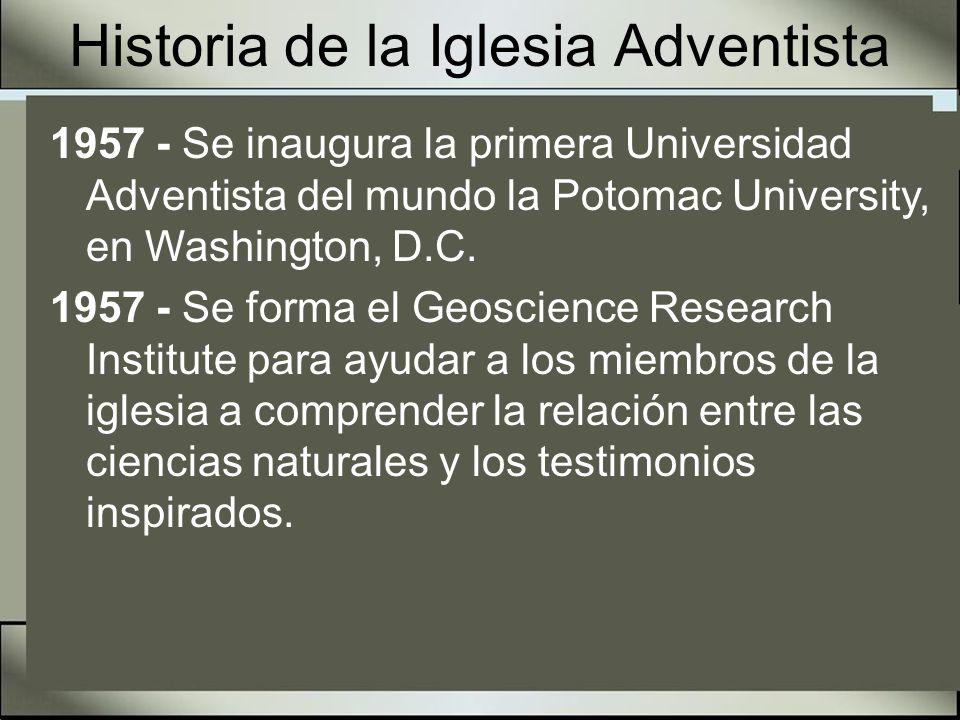 Historia de la Iglesia Adventista 1959 - Se inaugura el programa de Estudiantes Misioneros en el Washington Missionary College (actual Columbia Union College) en Takoma Park, Maryland.