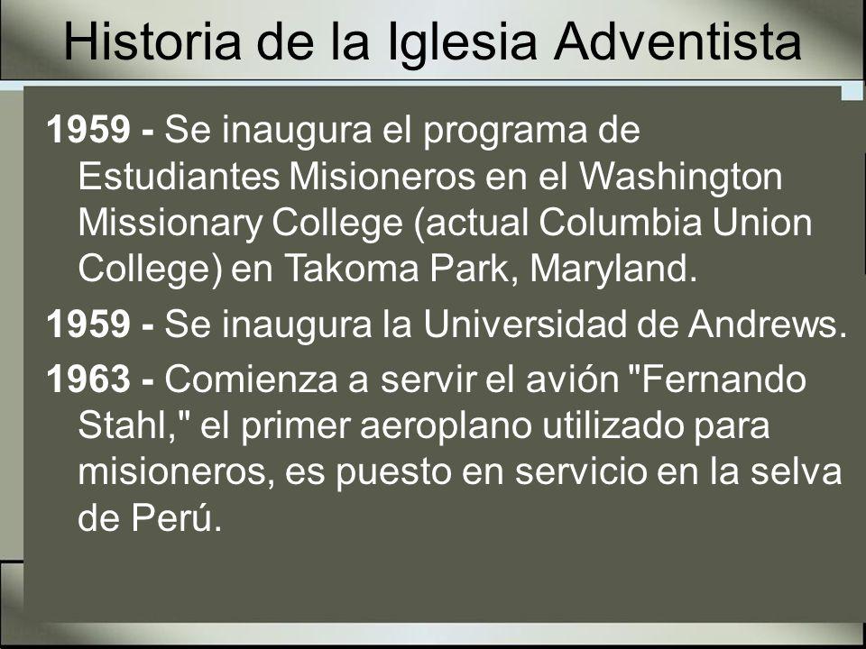 Historia de la Iglesia Adventista 1971 - Octubre Se inaugura la Adventist World Radio.