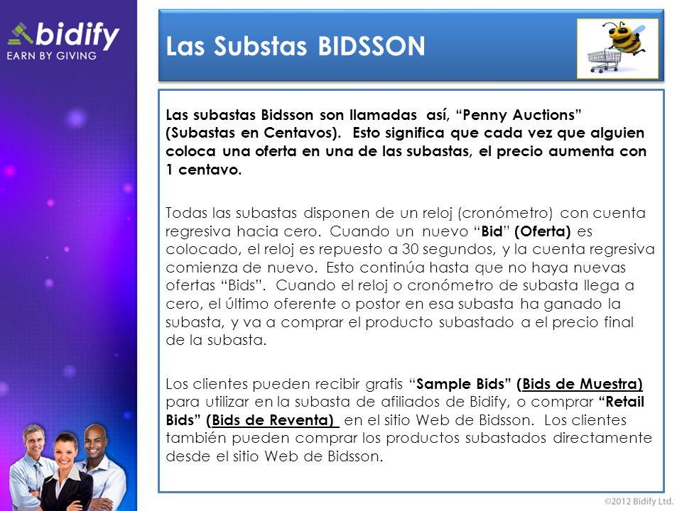 Las Substas BIDSSON Las subastas Bidsson son llamadas así, Penny Auctions (Subastas en Centavos).