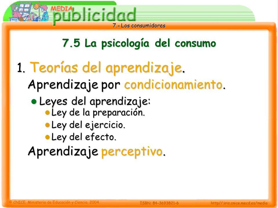 7.- Los consumidores 7.5 La psicología del consumo 1.