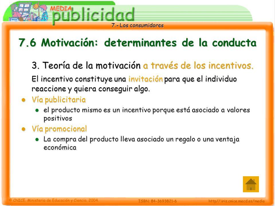 7.- Los consumidores 7.6 Motivación: determinantes de la conducta 3.