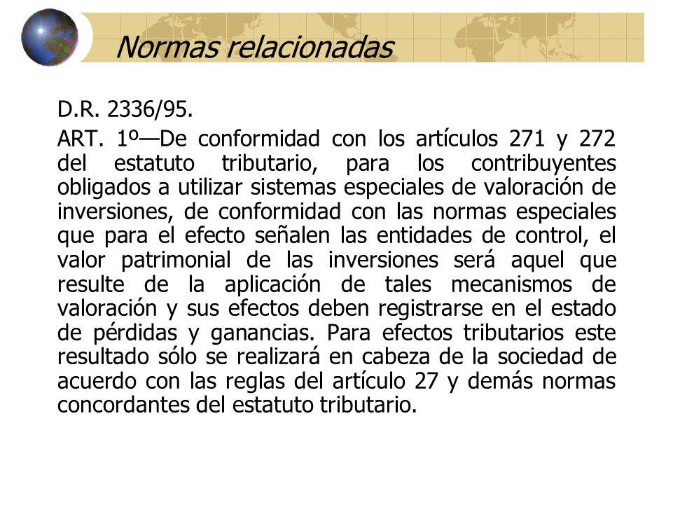 Normas relacionadas D.R. 2336/95. ART. 1ºDe conformidad con los artículos 271 y 272 del estatuto tributario, para los contribuyentes obligados a utili
