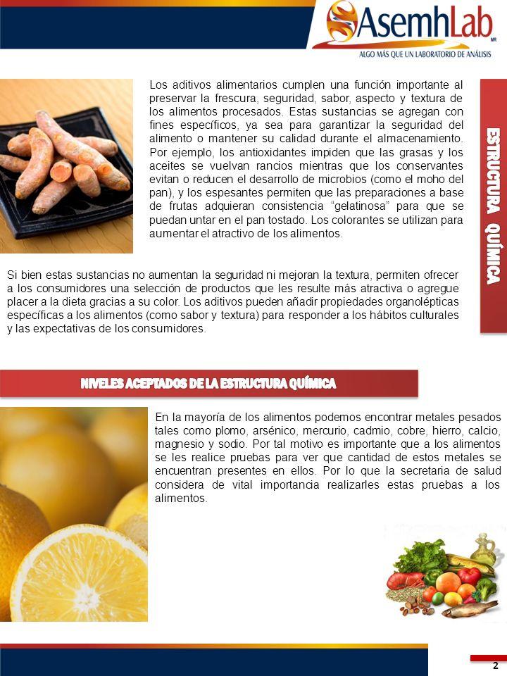 Los aditivos alimentarios cumplen una función importante al preservar la frescura, seguridad, sabor, aspecto y textura de los alimentos procesados. Es