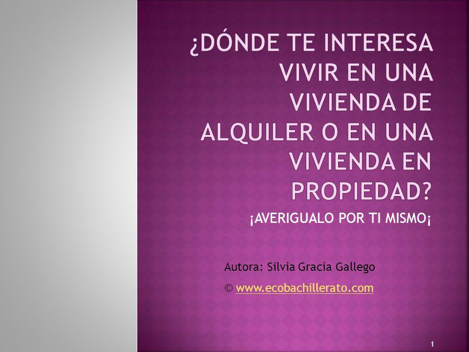 ¡AVERIGUALO POR TI MISMO¡ 1 Autora: Silvia Gracia Gallego © www.ecobachillerato.comwww.ecobachillerato.com