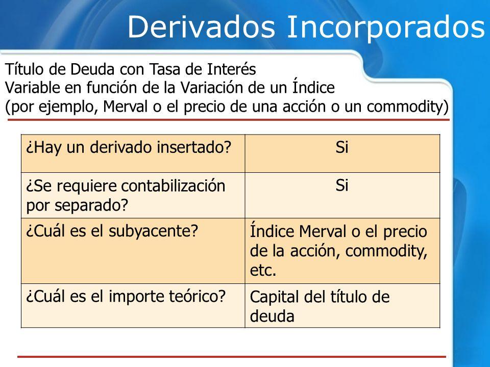 Título de Deuda con Tasa de Interés Variable en función de la Variación de un Índice (por ejemplo, Merval o el precio de una acción o un commodity) De
