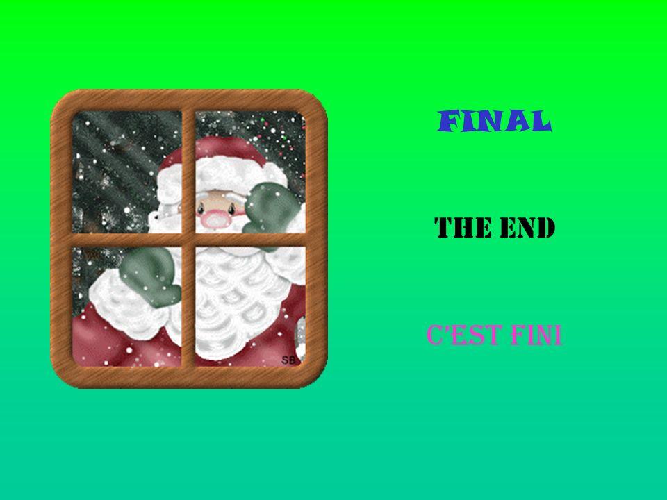 FINAL THE END CEST FINI