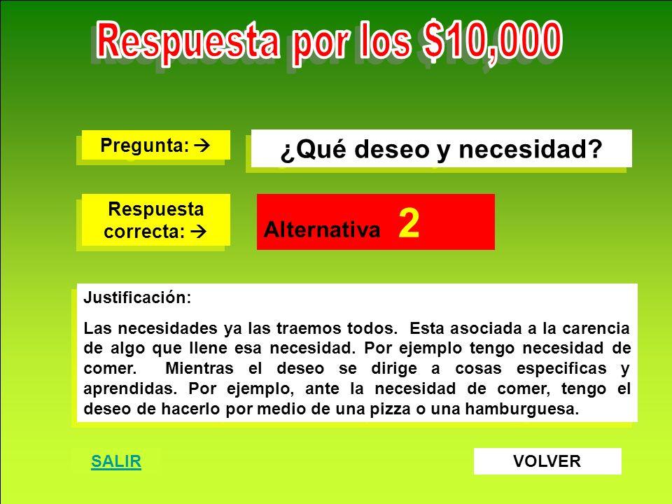 Destrezas Comerciales S.A. www.destrezascomerciales.com ¿Qué deseo y necesidad? Pregunta: Pregunta: Respuesta correcta: Respuesta correcta: Alternativ