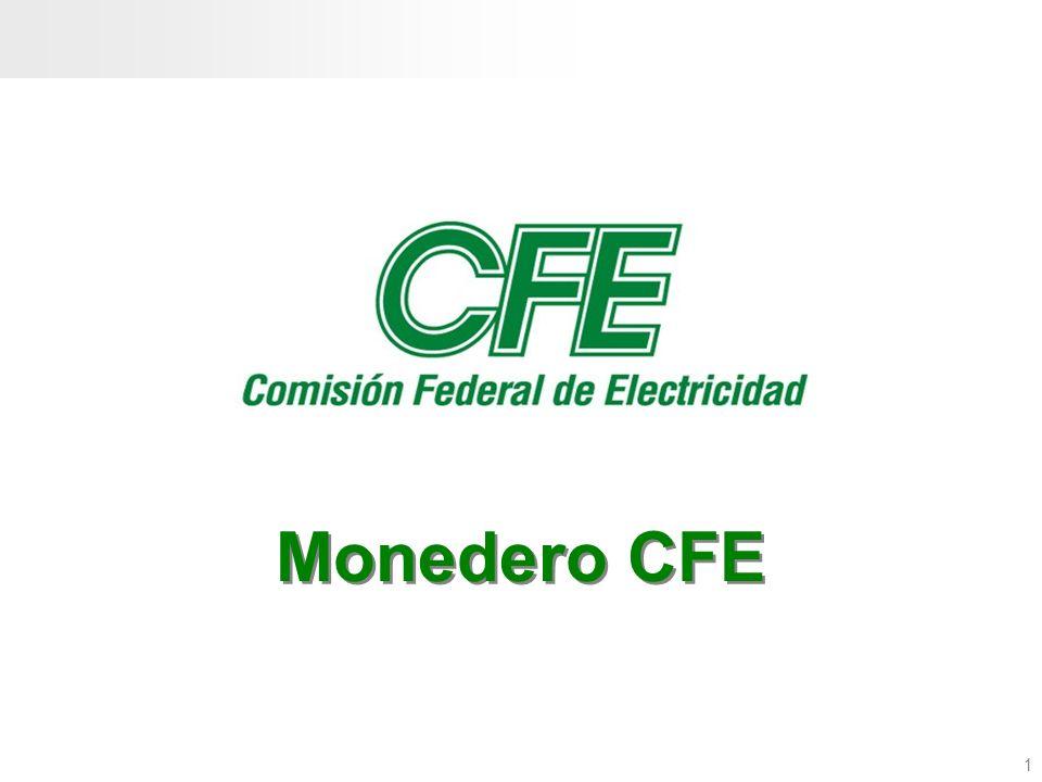 2 Objetivo El objetivo de este manual es dar a conocer el Programa Social de la Comisión Federal de Electricidad, que beneficia a sus clientes domésticos a través del uso del monedero CFE