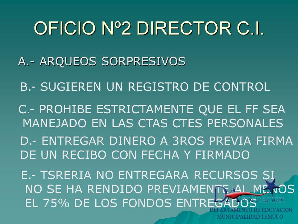 OFICIO Nº2 DIRECTOR C.I.