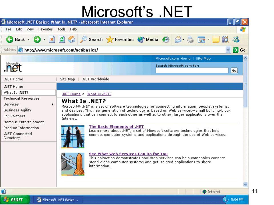 11 Microsofts.NET