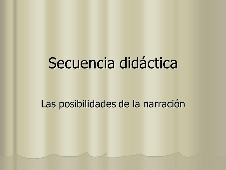 Secuencia didáctica Las posibilidades de la narración