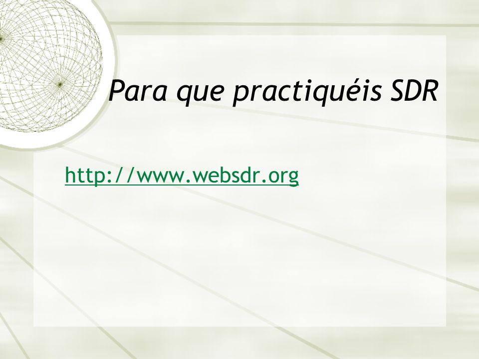 Para que practiquéis SDR http://www.websdr.org