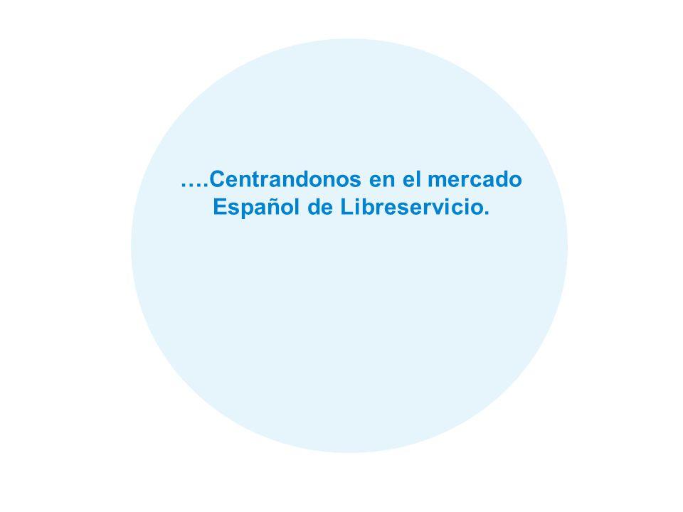34 ….Centrandonos en el mercado Español de Libreservicio.