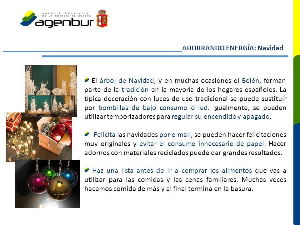 AHORRANDO ENERGÍA: Navidad El árbol de Navidad, y en muchas ocasiones el Belén, forman parte de la tradición en la mayoría de los hogares españoles.