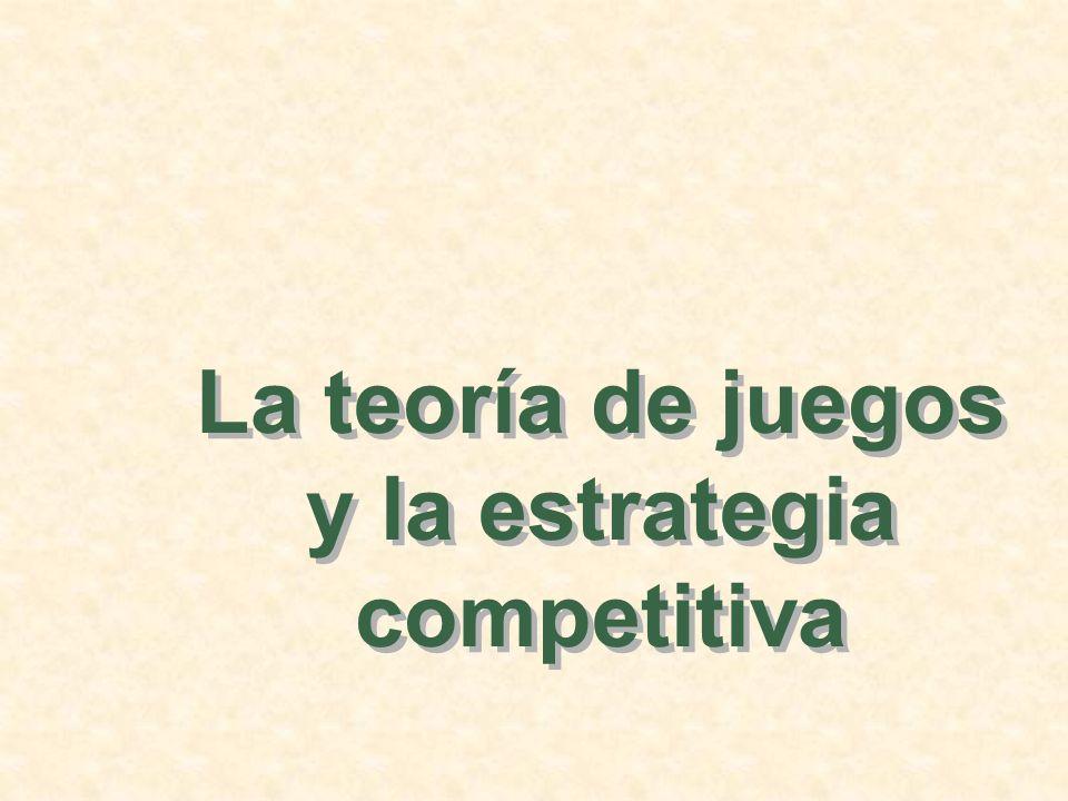 Las estrategias maximin Empresa 1 No invertirInvertir Empresa 2 0, 0-10, 10 20, 10-100, 0 No invertir Invertir Observaciones: Si la empresa 2 no invierte, la empresa 1 contraería pérdidas considerables.