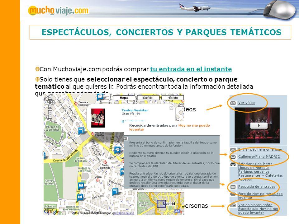 Con Muchoviaje.com podrás comprar tu entrada en el instantetu entrada en el instante Solo tienes que seleccionar el espectáculo, concierto o parque te