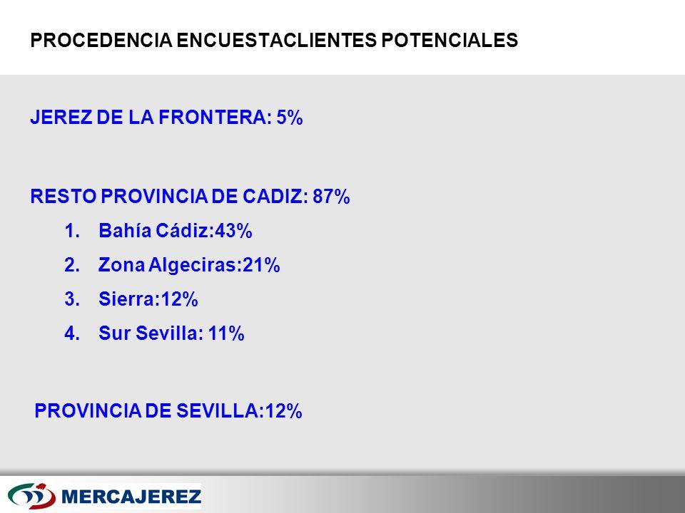 Here comes your footer Page 16 JEREZ DE LA FRONTERA: 5% PROCEDENCIA ENCUESTACLIENTES POTENCIALES RESTO PROVINCIA DE CADIZ: 87% 1.Bahía Cádiz:43% 2.Zon