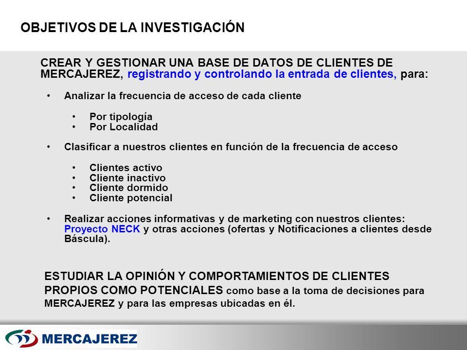 Here comes your footer Page 5 OBJETIVOS DE LA INVESTIGACIÓN CREAR Y GESTIONAR UNA BASE DE DATOS DE CLIENTES DE MERCAJEREZ, registrando y controlando l