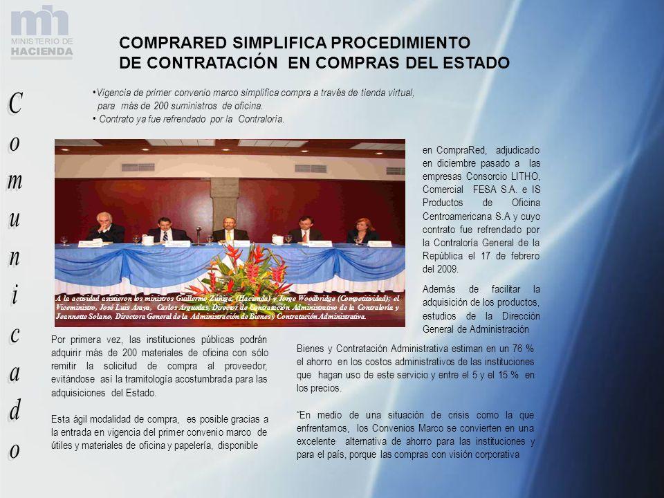 COMPRARED SIMPLIFICA PROCEDIMIENTO DE CONTRATACIÓN EN COMPRAS DEL ESTADO Por primera vez, las instituciones públicas podrán adquirir más de 200 materi