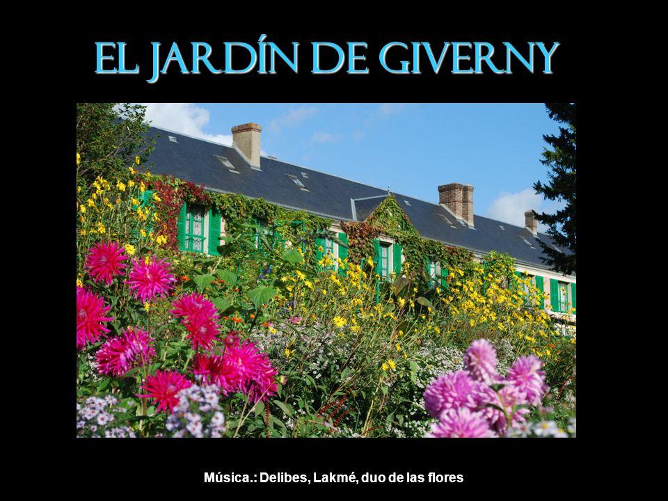 El jardín sería el escenario de muchas de sus pinturas.