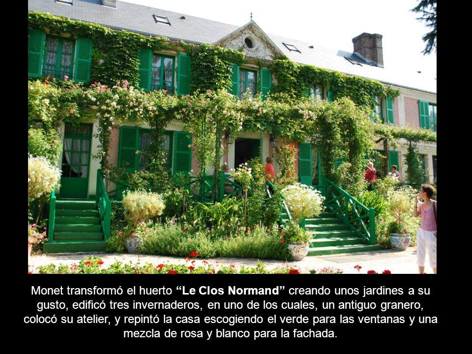 La casa de Giverny y sobre todo sus jardines será el lugar donde Monet encontraría su refugio pictórico.: Estoy encantado, Giverny es un lugar esplénd