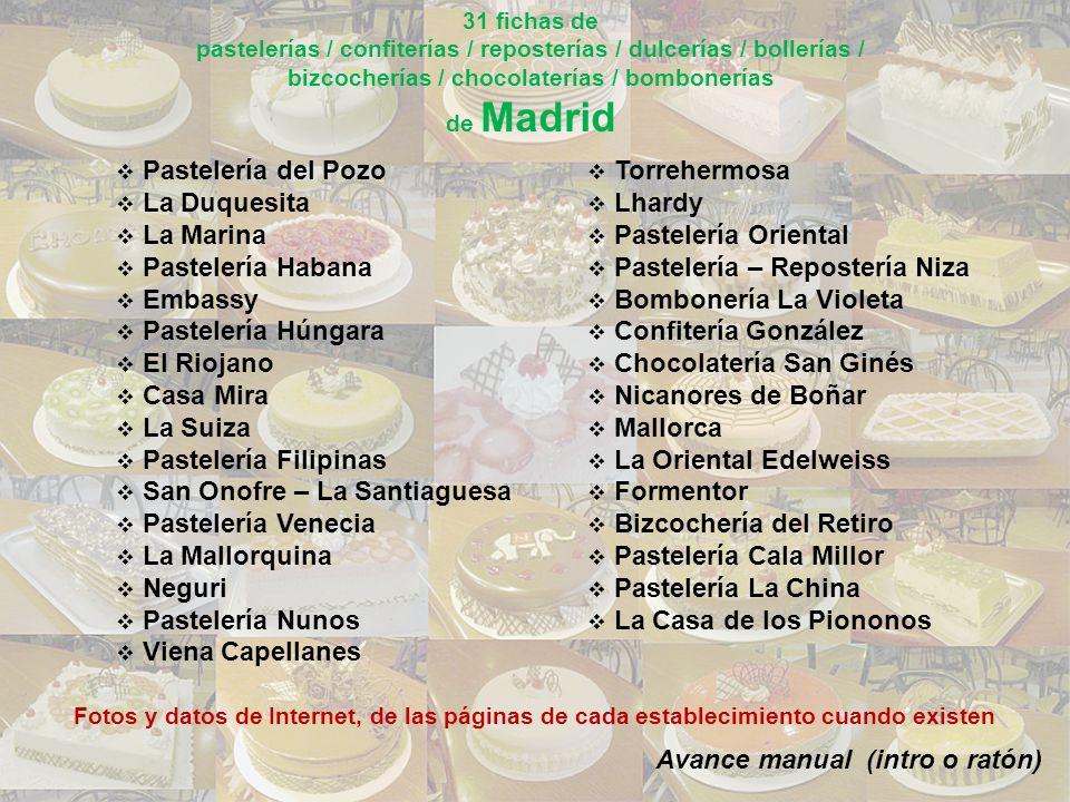 En 1994, un asturiano que trabajó en un restaurante alemán, decidió pasarse a la rama de la pastelería y convirtió este local en uno de los pocos que realizan dulces de Alemania y de Europa Central en Madrid.