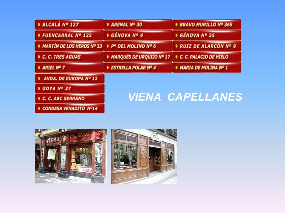 La casa Viena Capellanes es una pastelería que fue fundada en 1873 por el empresario Matías Lacasa como panadería. Sus primeras ventas fueron el pan d