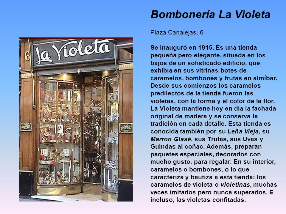 Pastelería Repostería Niza Calle Argensola, 24 Esta pastelería poseedora de una vistosa fachada, se caracteriza por tener 8 tamaños de roscón de reyes